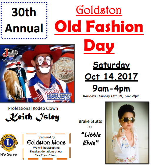 30th Annual Old Fashion Day Flyer 2017